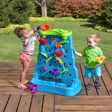 com step2 waterfall discovery wall double sided outdoor water play set with 13 pc accessory set toys