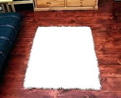 faux animal rugs fur area fake rug remarkable shaped faux animal rugs