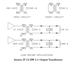 jeff rowland answers to common questions about audio transformers the open circuit impedance at 1 khz of either winding is about 150 ks since the dc resistance is about 40 s per winding if the primary is short