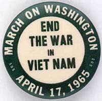 Image result for anti war demonstration against vietnam 1965