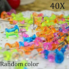 Pins For Maps 40 Pcs Thumbtack Push Pins Transparent For Noticeboards Maps