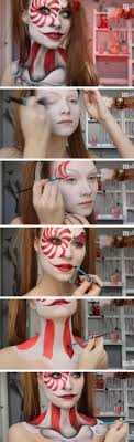 candy cane slash skeleton halloween makeup looking crazy is in when it es to