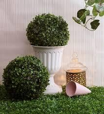 green polyester eucalyptus boxwood mat artificial grass by fourwalls set of 3