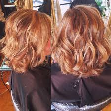 Copper Hair Color With Balayaged Highlights