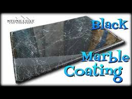 black marble coating over old countertops