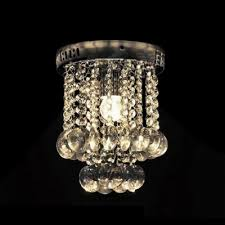 glittering small crystal globes and chrome finished modern and elegant flush mount lights