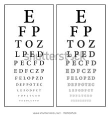 Sharp Unsharp Snellen Eye Chart Vision Stock Vector Royalty