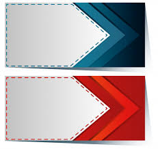 Package Label Template Adorable Label Template With Blue And Red Arrow Vector Free Download