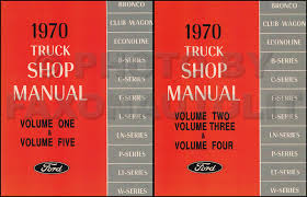 1970 ford b and f100 f750 series foldout wiring diagram 1970 ford truck repair shop manual reprint set 5 volume 2 book set pickup van bronco truck