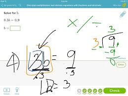 showme one step equations with fractions
