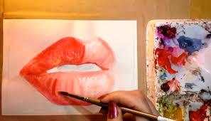 step 4 full red lips