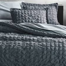 desi grey pintuck twin duvet cover