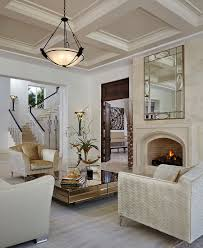 mirrored coffee table. Gorgeous Mirrored Coffee Table With A Dash Of Golden Glint [Design: Annie Santulli Designs E