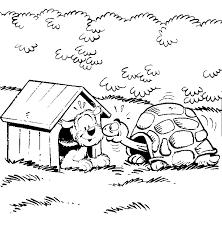 Spelletjes Voor Kinderen Kleurplaat Hondje Schildpad