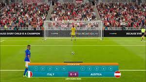يورو 2020 - ركلات ترجيح ايطاليا والنمسا بيس 2021 - YouTube