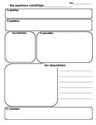 Science Fair Chart Template Science Experiments Template Worksheets Teaching Resources