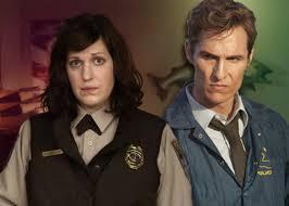 tv shows 2014. allison tolman in fargo, left, and matthew mcconaughey true detective. tv shows 2014
