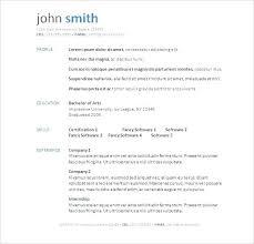 Elegant Resume Template Free Create Classy Resume Template Resume