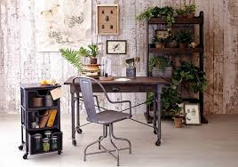 rustic chic home office desk