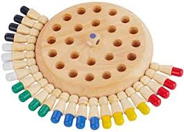 Wooden Memory Matchstick Chess Game Color ... - Amazon.com