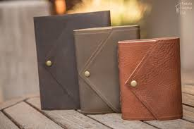 envelope style leather journals by trekker leather co