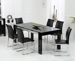 brilliant black kitchen table throughout and white modern farmhouse with long dining furniture