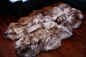 genuine quad sheepskin rug 100 natural fluffy hair