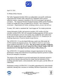 ievac astm e2952 certification letter 1