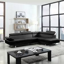 faux leather sectional. Amazon.com: 2 Piece Modern Contemporary Faux Leather Sectional Sofa: Kitchen \u0026 Dining