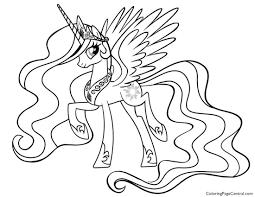 25 Nieuw My Little Pony Princess Celestia Kleurplaat Mandala