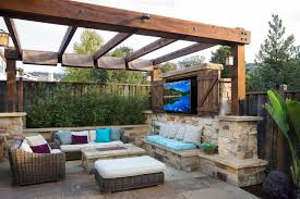 Covered Outdoor Patio Ideas Patio Contemporary With Outdoor Stone