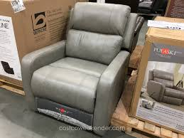 leather office chairs with true innovations skylar gaming chair storage ottoman costco pulaski leather glider recliner chair