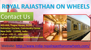Small Picture Royal Rajasthan on Wheels Train Itinerary with destinations