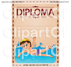 clipart of a boy swimming school diploma design royalty  clipart of a boy swimming school diploma design royalty vector illustration by visekart