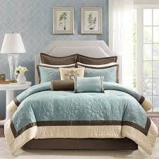 aqua blue and brown comforter sets madison park juliana blue in brown and blue quilt