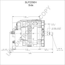 blp2356h alternator product details prestolite leece neville blp2356h side dim drawing