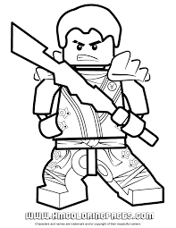 Ninjago Jay Kx In Elemental Robe Coloring Page Coloring Pages