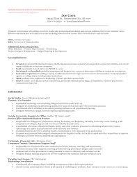 Resume Opening Sentence Cover Letter Model Resume Sample