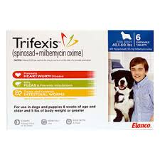 Trifexis Chewable Tablets For Extra Large Dogs 60 1 120lbs