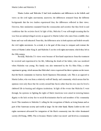 malcolm x essay essay on malcolm x for modern american history  martin luther and malcolm x history essay studentsharemartin luther and malcolm x essay example