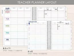 Teacher Daily Planner Teacher Weekly Planner Best Planner For Teachers 2019 2020 Teacher Planner Chalk Confetti
