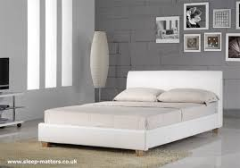 Galaxy Leather Bed In White Intended For Amazing Household White Leather Bed  Plan