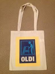 Completely original Aldi 'Oldi' bag 100% eco-cotton.