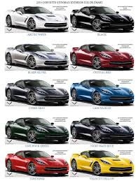 2012 Lexus Color Chart 2014 Corvette C7 Stingray Exterior Color Chart Decisions
