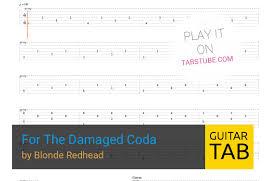 Blonde redhead guitar tuning tab