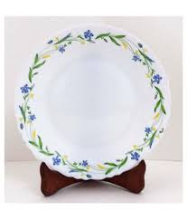 porcelain dinner plates online india. 4 larah by borosil cripper print dinner set- 19 pieces (4 full plates, porcelain plates online india