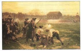 Война за независимость и образование США Новая история Реферат  Битва англичан и американцев
