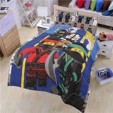 new lego ninjago double size kids bed 100 cotton quilt doona duvet cover set