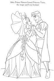 Tiana And Naveen Coloring Pages Coloring