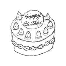 バースデーケーキのイラスト苺のシートケーキ 無料で使える誕生